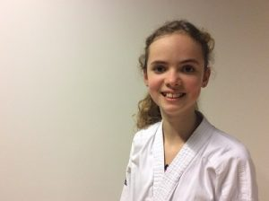 Ryanne - ambassadeur van Kaihatsu Karate-do, dé karateschool van Burgum en omstreken