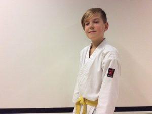 Sander - ambassadeur van Kaihatsu Karate-do, dé karateschool van Burgum en omstreken