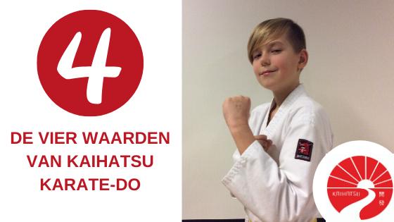 De vier waarden van Kaihatsu Karate-do