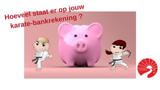 De karate bankrekening