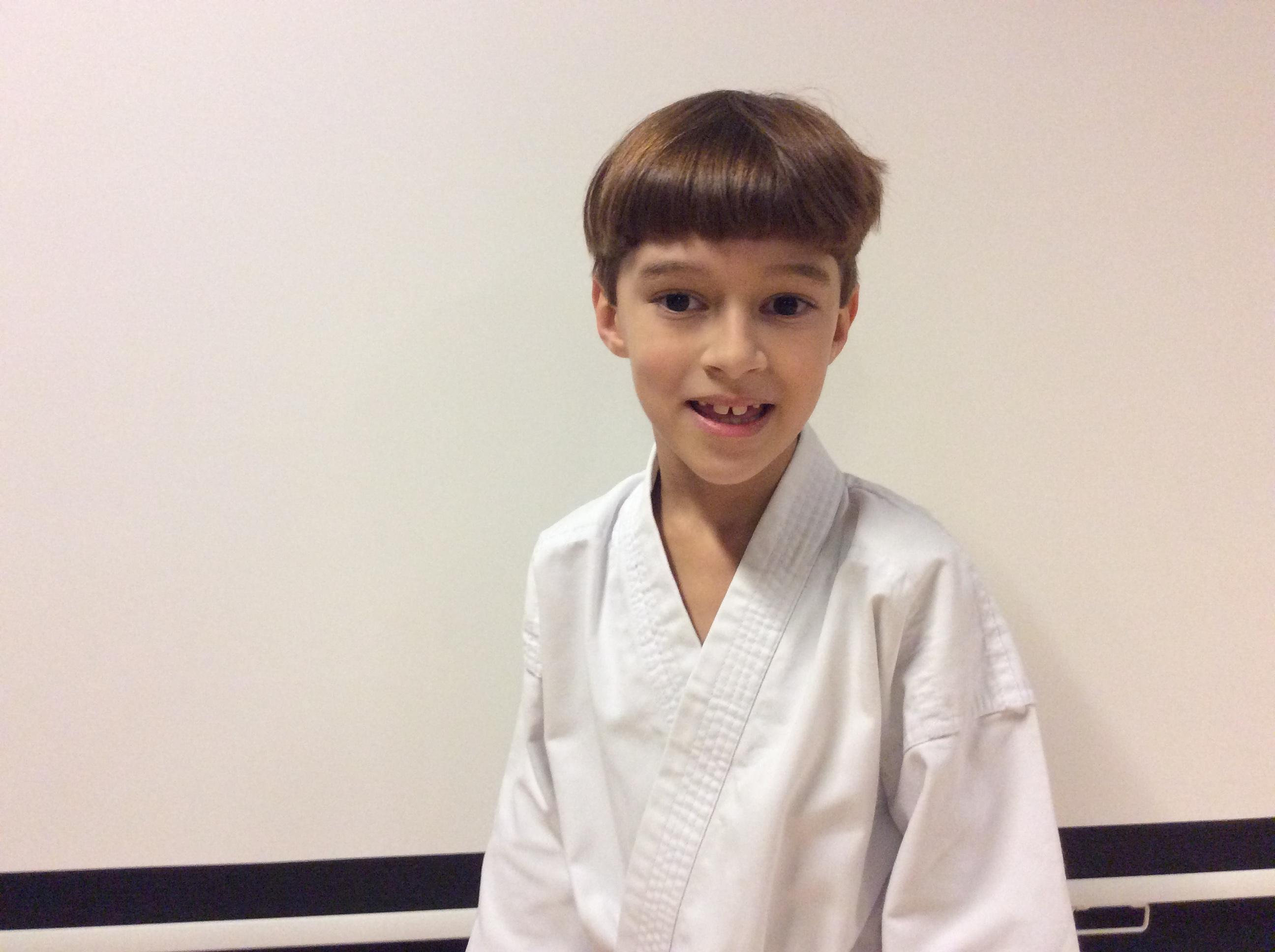 Kevin, karateleerling bij Kaihatsu